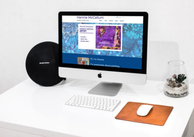 Website and branding for Hannie McCallum mixed media artist